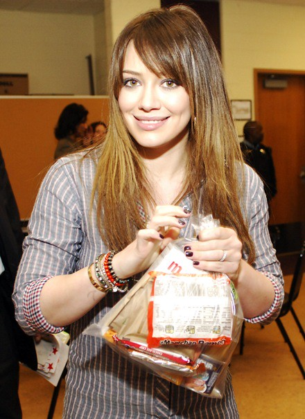 "#7029101 Hilary Duff visits Edward Jenner Elementary Academy of the Arts in Chicago, IL on March 23, 2011 to promote ""Blessings in a Backpack"" a program geared to help feed nutritious meals and ready to eat snacks to hungry kids around the country.. Fame"