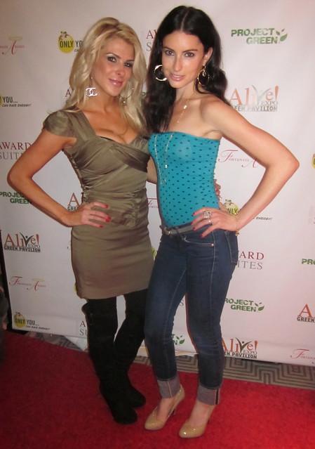 Jennifer Lexon, Samantha Gutstadt, Alive Expo Green Pavilion Oscar Gifting Suite 2011
