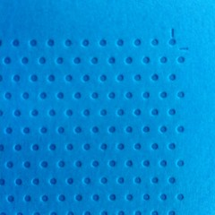Letterpress dots on tabriz blue paper