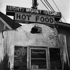 Might Midget Kitchen (disoculated) Tags: 6x6 blackwhite crossprocessed fuji flickrd yashica doner 220 caffenol mightymidgetkitchen donerkabob