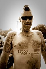 tattooed beach ex-skin head (dr bonez) Tags: tattoo skinhead