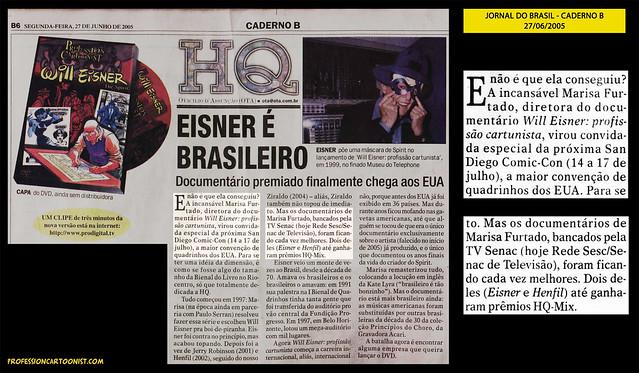 """Eisner é brasileiro"" - Jornal do Brasil - 27/06/2005"