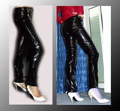 Ausgeh_fertig (trixi.2007) Tags: fetish highheel vinyl rubber gummi schwarz rainwear pvc stiefel klepper raincape shinycoat regenmantel kleppermantel regencape lackmantel lackhose gummihose lackcape pvchose
