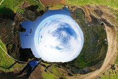 Orongo (Man) Tags: chile panorama village pacific full projection easterisland spherical 360 stereographic ceremonial orongo