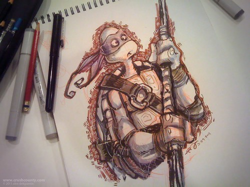 "AGD_Donatello_sketch (( 2011 )) [[ the work of Alex ""Toon"" Deligiannis ]]"