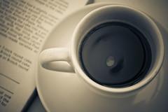 Coffee and a Book (Inglenook Photography / Car-Tography) Tags: cup coffee book coffeeshop espresso toned blackcoffee