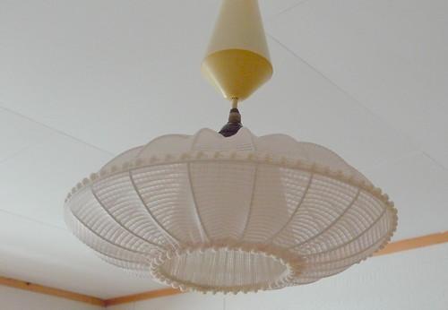 Beautiful lamp in new bedroom