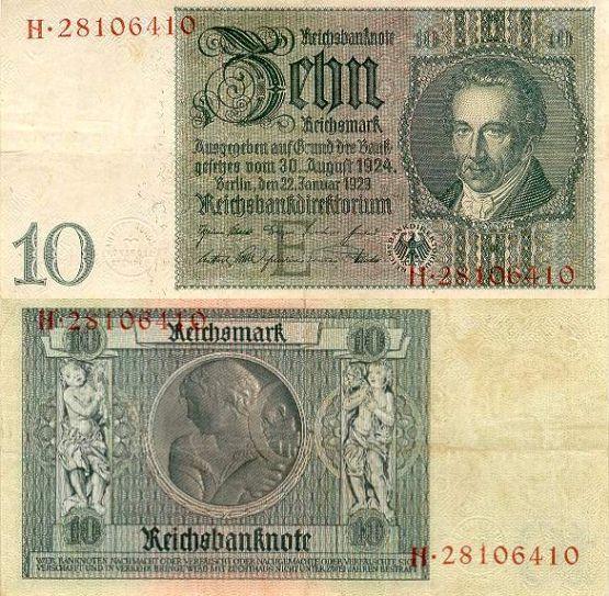 10 Ríšskych mariek Nemecko 1929, P180