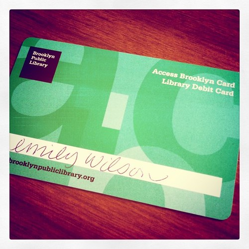 Library card. :)