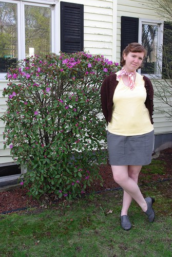 Grey Twill Skirt