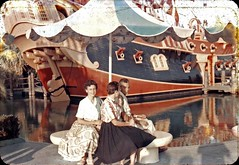 Chicken of the Sea Pirate Ship Restaurant, September 1960 (Tom Simpson) Tags: 1960 1960s disney vintage vintagedisney disneyland vintagedisneyland fantasyland chickenoftheseapirateship pirateship restaurant ship