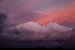A special cloud during sunset (peeteninge) Tags: clouds wolken sunset zonsondergang roze pink sky lucht nature natuur outdoor