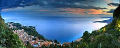 Taormina Panorama III (hapulcu) Tags: italia italie italien italy mediterranean messina sicile sicilia sicily sizilien taormina panorama sunset winter