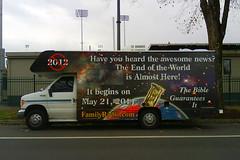 cameraphone apocalypse bible christianity motorhome endoftheworld prophesy judgmentday familyradio 2011cult