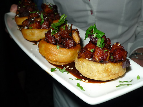 Pork Belly Sopes, Salsa Negra, Sesame