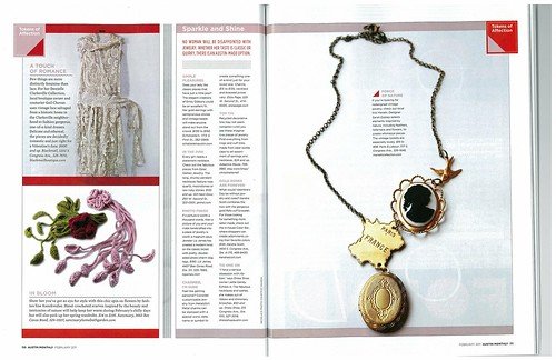 My Diva (flower) Scarves in Austin Monthly Romance Issue February 2011