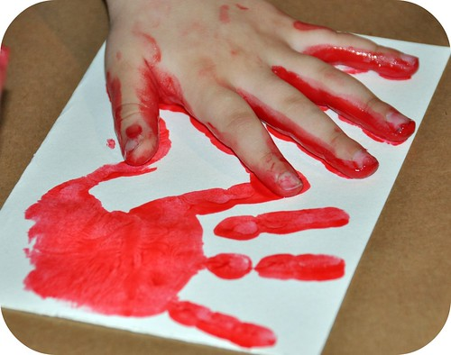 valentine handprint craft. Valentine Handprint Card