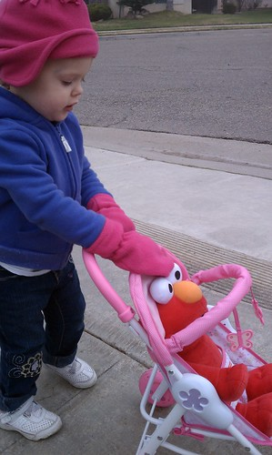Elmo goes on the walk too