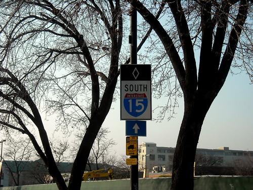northbound US-89 in Salt Lake City