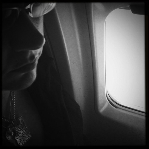 on the airplane home from Blissdom