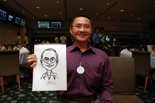 caricature live sketching for Thorn Business Associates Appreciate Night 2011 - 13