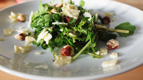 Hazelnut and Lancashire salad