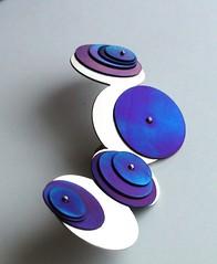 Saturn Brouch (Mod3rnArt) Tags: blue silver purple handmade brooch jewelry titanium