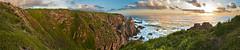 A Southern Sunset (J.Shultz Photography) Tags: ocean sunset sea sky sun green grass set clouds island rocks waves hills cape phillipisland phillip rolling capewoolamai woolamai
