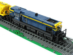 T class diesel-electric locomotive (flat top) (scruffulous) Tags: lego victorian locomotive railways flattop tclass bluegold dieselelectric