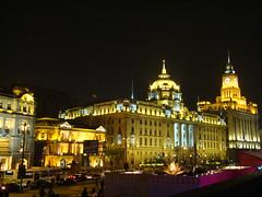 Shanghai edificios en el Bund de noche China 06 (Rafael Gomez - http://micamara.es) Tags: shanghai ciudad de noche city night china viajes bund zona del malecon vista nocturna