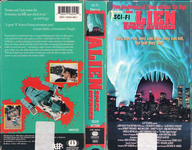 ALIEN SPACE AVENGER (VHS Box Art)