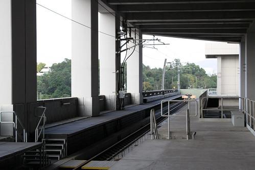 Overrun track at Wu Kai Sha station