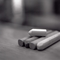 Chalk (christian.senger) Tags: wood blackandwhite white black 6x6 film rollei analog rolleiflex mediumformat germany table geotagged grey chalk europe university dof kodak availablelight trix gray indoor explore squareformat sl66 minimalism ulm lightroom lecturehall carlzeiss silverfast photostudio13 osm:node=127498398 foursquare:venue=3217901 christiansenger:year=2011