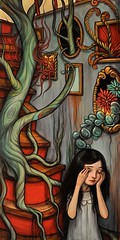"""Stairwell"" (verpabunny) Tags: original painting artwork acrylic thinkspace kellyvivanco february2011 springstomind"
