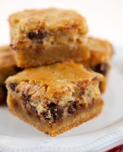 Pecan Chocolate Chip Gooey Butter Cake