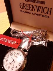 電波懐中時計
