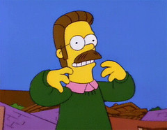 Ned Flanders and Daft Punk... (deedelvis) Tags: for other hilarious perfect funny punk simpsons they animated gif coincidence ned daft each flanders