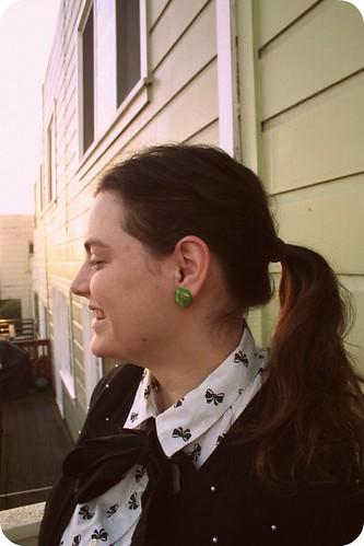 Button Earrings :)