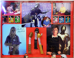 Peter Mayhew, David Prowse, Anthony Daniels autographed PEZ