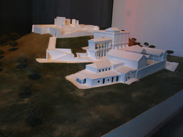 遺跡の模型のフリー写真素材