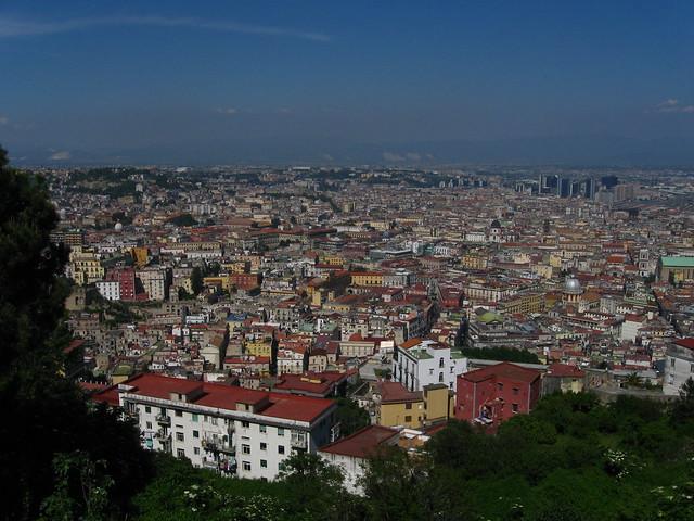 ナポリの街並みのフリー写真素材