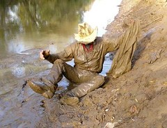15 WS My Wrangs jeans jacket mud soaked now (Wrangswet) Tags: wet canal mud hiking cowboyhat wetlook riverhiking muddyboots swimmingfullyclothed muddycowboy wetcowboy muddycowboyboots mudwallow wetwranglerjeans mudwallowing muddywranglerjeans cowboybootsandspurs muddycowboywallowing