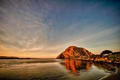 Morro Bay  Sunrise with otter (candersonclick) Tags: california christmas winter nature sunrise bluesky morrobay sigma1224mm morrorock waterpark 2010 canderson ultrawidelens nikond700