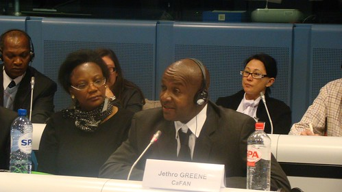 Jethro Greene speaks at the Brussels Briefing