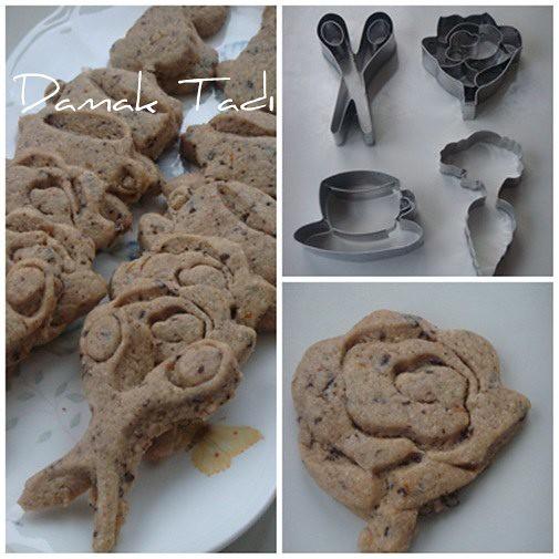 Portakallı çikolatalı kurabiyeler