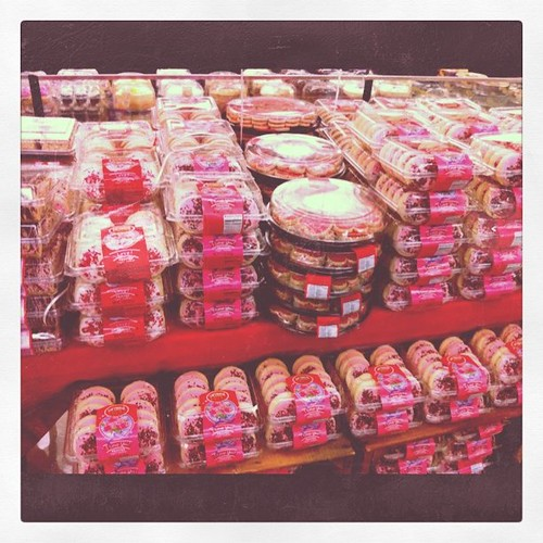 Ralphs is very excited about Valentine's Day with their Lofthouse cookie display.