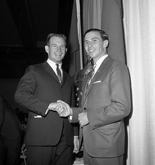 Indianapolis 500 Drivers, Parnelli Jones and Jim Clark, in 1965 (indianapolismotorspeedway.com) Tags: new announcer public tom track indianapolis it racing record 500 hes address carnegie drivers ims on jimclark indianapolis500 indianapolismotorspeedway parnellijones raceblogs