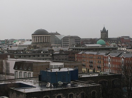 Dublin Cityscape on a wet day