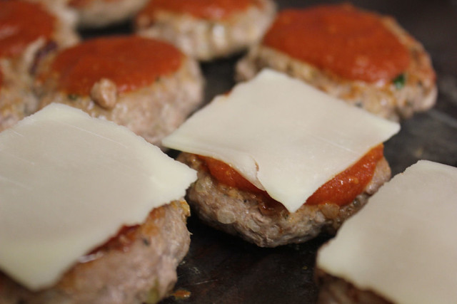 Turkey Parmigiana Sliders