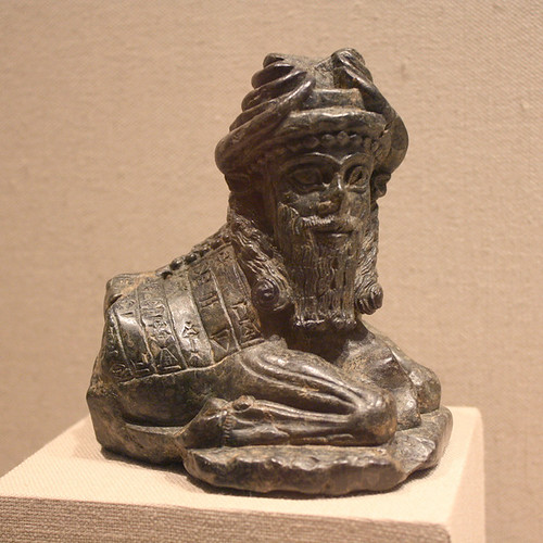 A Magnificent Mesopotamian Lizardite Statue of a Kusarikku, a ...